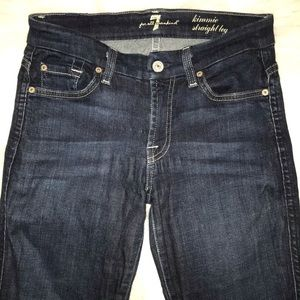 7 for all mankind size 26 kimmie straight leg